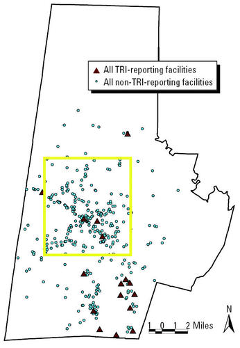 GIS Modeling of Air Toxics Releases from TRI-Reporting and Non-TRI